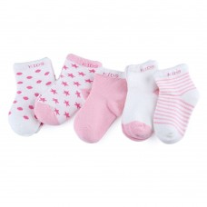 5 Pairs / Lot Baby Cotton Lovely Moon Stars Printed Socks