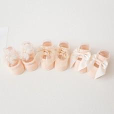 3 Pack Baby Girl Anti Slip Socks Cotton Non Skid Room Socks For 0-1 Years Infant Toddler Yellow S