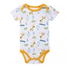 Baby Rompers Bodysuit 100% Cotton Short Sleeve Unisex Newborn Baby Clothing 0-3M