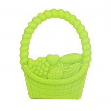 100% Food Grade Silicone Hand Held Chewable Basket Teether Teething Pendant for Necklace Chew Baby Toddler Soothing Nursing Jewelry Toy BPA Free DIY